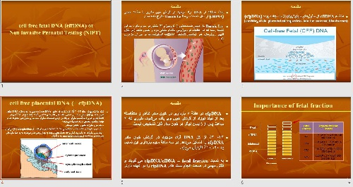 پاورپوينت با عنوان  (cell free fetal DNA (cffDNA) or  Non Invasive Prenatal Testing (NIPT